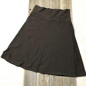 Eileen Fisher Pull On A-line Midi Skirt L/XL